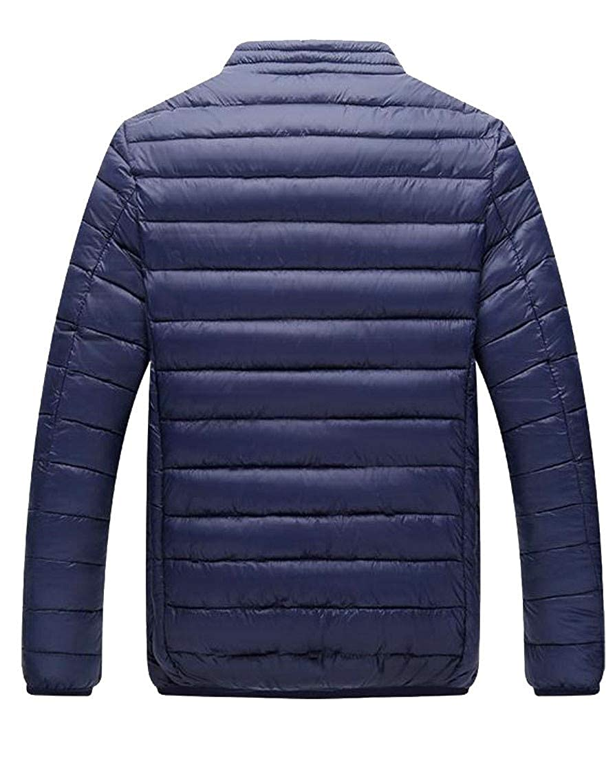 Agana Mens Puffer Ultra Light Quilted Stand Collar Winter Packable Down Coat
