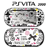 Decorative Video Game Skin Decal Cover Sticker for Sony PlayStation PS Vita Slim (PCH-2000) - Miss.