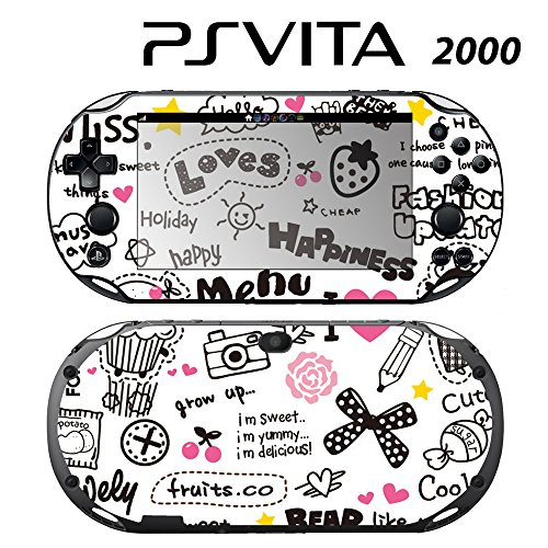 Decorative Video Game Skin Decal Cover Sticker for Sony PlayStation PS Vita Slim (PCH-2000) - Miss. -  Decals Plus, PV2-PA43