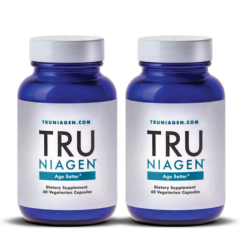 TRU NIAGEN Nicotinamide Riboside - Patented NAD Booster for Cellular Repair & Energy, 150mg Vegetarian Capsules, 300mg Per Serving, 30 Day Bottle - (Pack of 2) by TRU NIAGEN