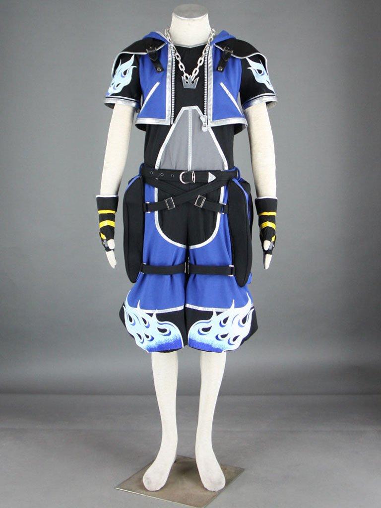 Sunkee Kingdom Hearts sora Azul costume Cosplay , hecho a medida, tamaño:altura XXL (175cm-185cm) (por favor dénos su peso, altura, anchura de los hombros, la cintura, el busto y la cadera)