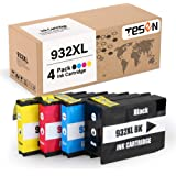 TESEN Compatible 932 XL 933 XL Ink Cartridge Replacement for HP 932XL 933XL 932 933 Combo Pack for HP Office Jet 6700 6600 61