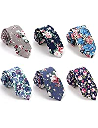 Jacquard Floral Business Skinny Neck Tie for Men Women 6 PCS/LOT(mix 6)