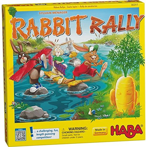(HABA Rabbit Rally - A Challenging and Fun Guessing Game for Ages 4 and Up (Made in)