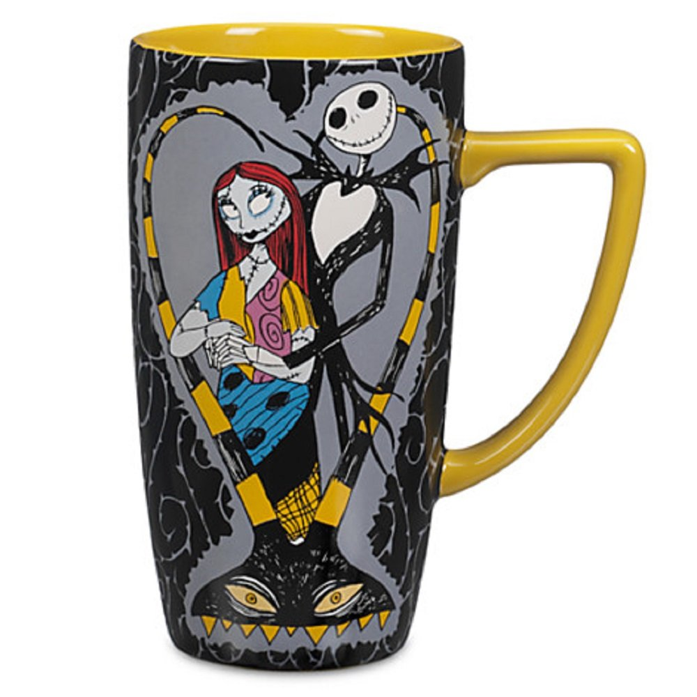 Amazon.com: Disney Store Jack Skellington and Sally Coffee Mug Cup ...