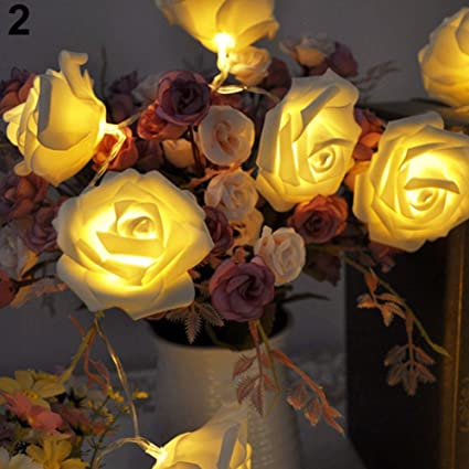 Lighting Strings Outdoor Lighting Brand New Rose Flower Wedding Party Christmas Decoration String Led Lights Multi-color Low Price