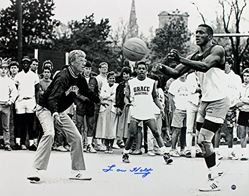 (Notre Dame Lou Holtz Authentic Signed 16X20 Photo w/ Tim Brown Steiner Holo/COA)