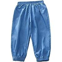 PAUBOLI Pantalones Harem para niños 100% Lyocell Denim Soft Lightweight Long Pants 2-8T