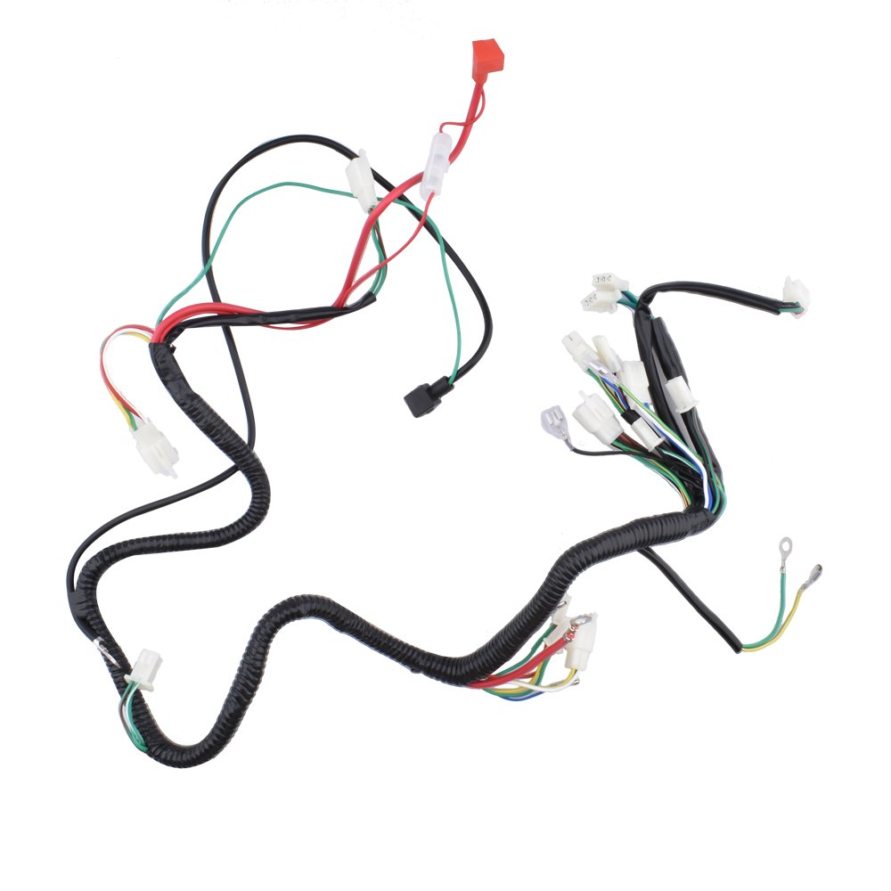 amazon com: minireen gy6 125cc 150cc wire harness wiring assembly for 6  pole magneto gy6 150cc scooter moped: automotive