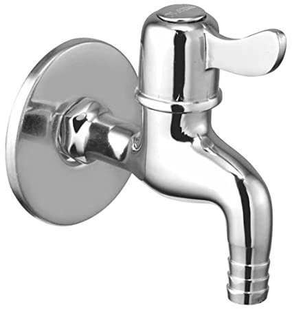 Oleanna Magic Brass Quarter Turn Fittings Nozzle Bib Cock Short Body Taps (Chrome Finish)