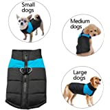 """Berry Winter Warm Pet Jackets Coats - Dogs Winter Coats for Small Medium Large Dogs,Blue,XL(Chest 17.5"""",6~8kg)"""