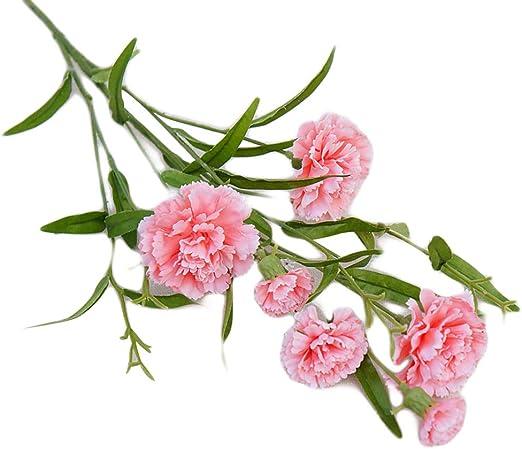 RIsxffp Clavel Artificial Flor Planta Falsa decoración del hogar ...