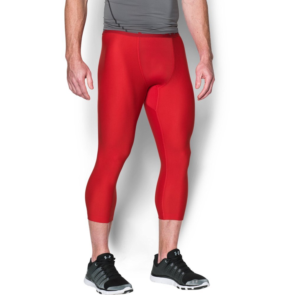 Under Armour Men's HeatGear Armour 2.0 ¾ Leggings, Red (600)/Graphite, Small