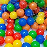 Hosaire 50 Pack Pit Balls Colorful Fun Phthalate Free BPA Free Crush Proof Balls Soft Plastic Air-Filled Ocean Ball Playballs for Baby Kids Tent Swim Toys