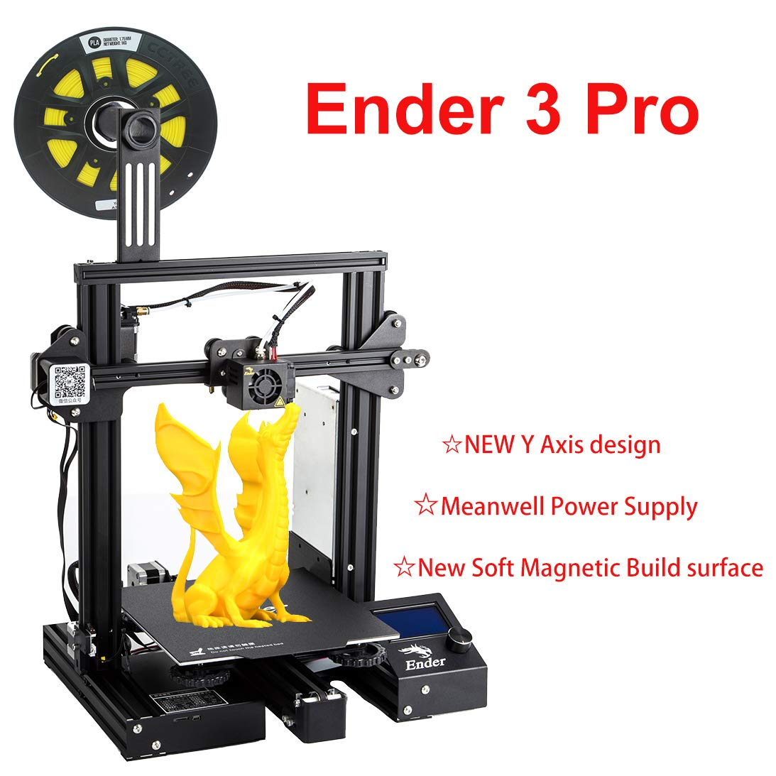 CCTREE Creality Ender 3 Pro 3D Printer with Upgrade Cmagnet Build Surface Plate and MeanWell Power Supply 220x220x250mm Creality 3D