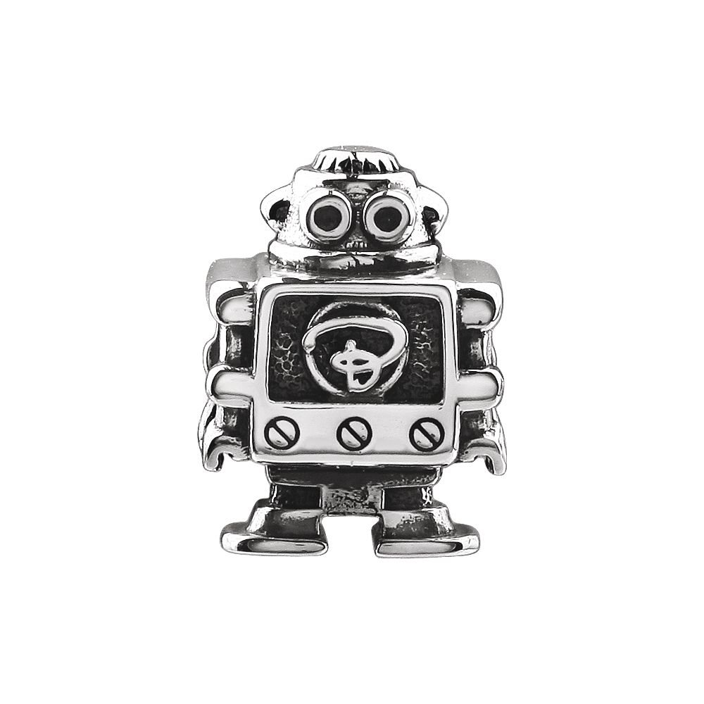 FB Jewels 925 Sterling Silver 13.35x10.4mm Robot Bead