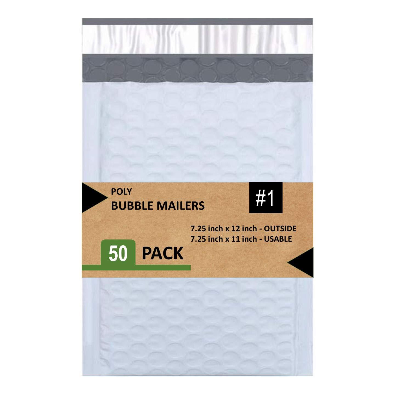 50 Sobres con burbujas blanco impermeables 18.5x30.5cm