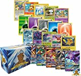 1000 Pokemon Card Lot - 500 Energy Plus 500 Pokemon Cards - Common Uncommon, Rares, Foils, Holos and GX! Pokemon Coin! Includes Golden Groundhog Storage Box!