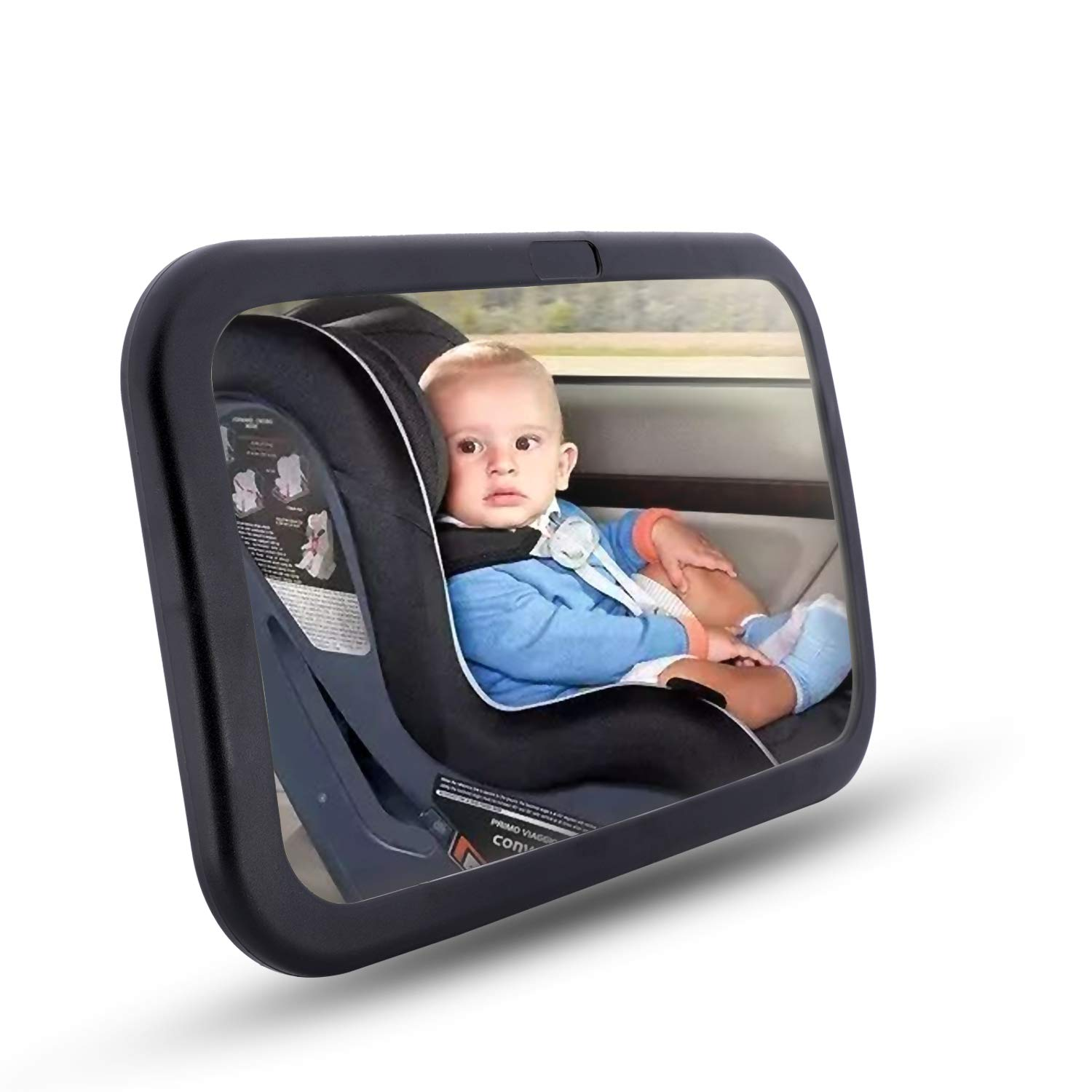 LYOOMALL Baby Car Mirror for Car Seat Rear Facing Shatter-Proof Acrylic with Clear View 360 Degree Adjustable