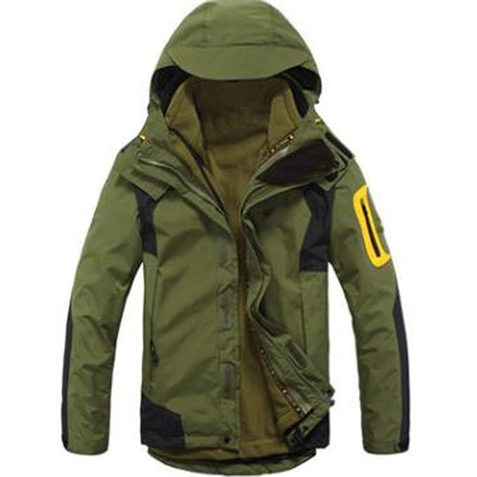 WU LAI Chaquetas Hombre Triple Ropa Al Aire Libre Trajes De Alpinismo Modelos De Pareja Warm Fleece Liner,Armygreen-XL: Amazon.es: Ropa y accesorios