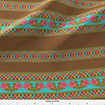 Ornamental Trim Fabric Trims by Katartis Printed on Organic Cotton Knit Ultra Fabric by the Yard by Spoonflower