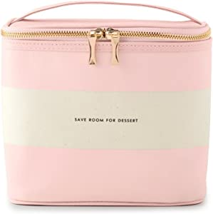 Kate Spade New York Insulated Lunch Tote, Blush Rugby Stripe