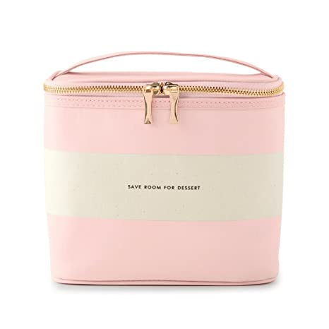 946b049c2 Amazon.com: Kate Spade New York Women's Lunch Tote, (Out To Lunch), Blush  Rugby Stripe, Pink Canvas: Kitchen & Dining