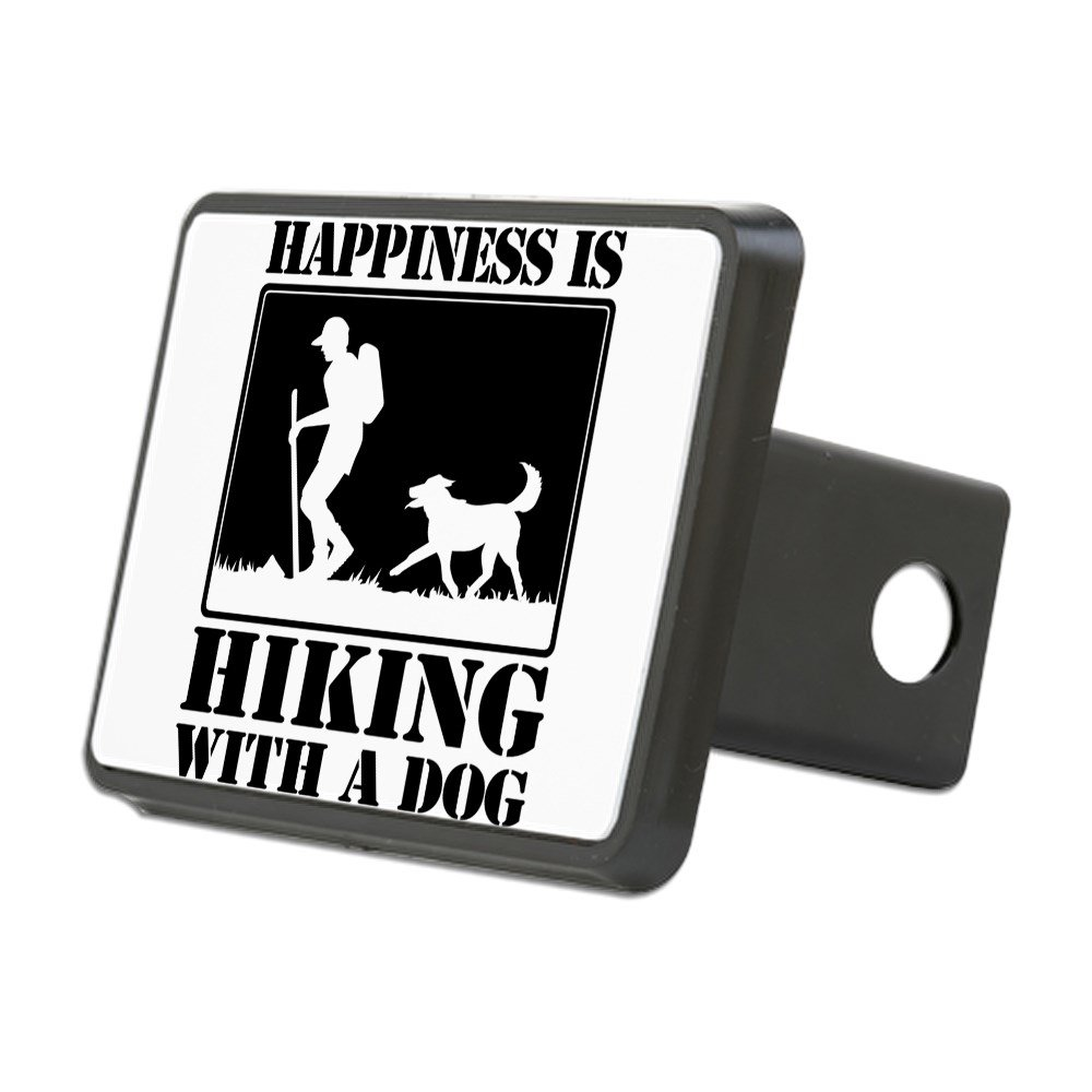 CafePress - Happiness is Hiking A Dog Hitch Cover - Trailer Hitch Cover, Truck Receiver Hitch Plug Insert