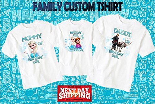Buy now Frozen birthday shirt,Custom shirt,personalized Frozen custom Shirt, family shirt,birthday shirt,kids custom birthday shirt