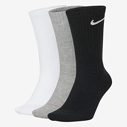 Nike Unisex Everyday Lightweight Crew Training Socks (3 Pair)