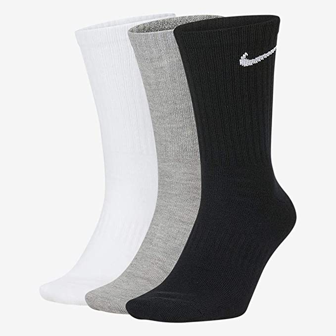 Nike Everyday Lightweight Crew Trainings Socks (3 Pairs), Calcetines Hombre, Multicolor, 46–50 (Talla del fabricante: XL)