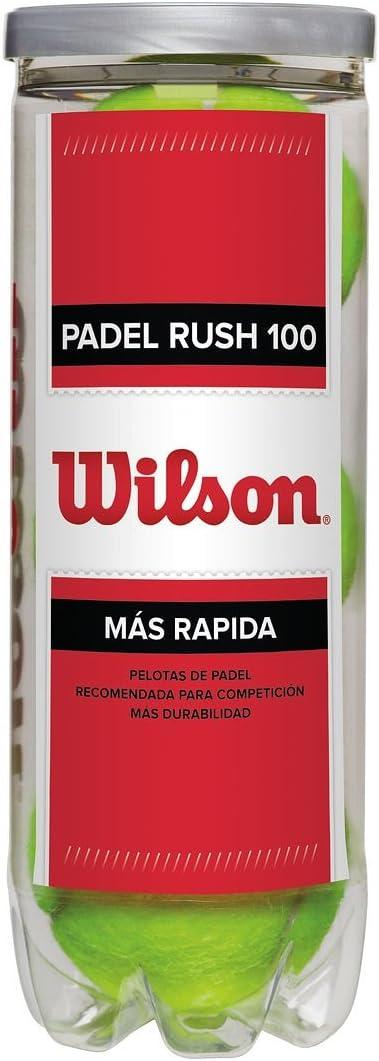 Wilson Padel Rush 100 Pelotas de pádel, pack de 3, para superficies artificiales (Omni Court), Unisex, Amarillo: Amazon.es: Deportes y aire libre