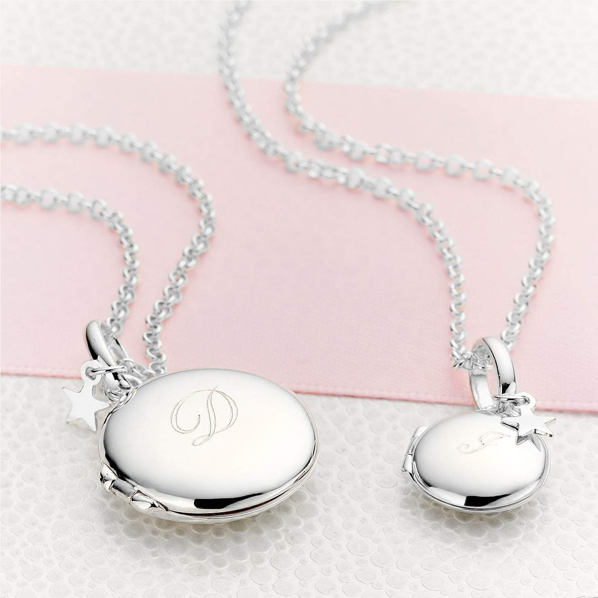 Molly B London Personalized 925 Sterling Silver Girls Large Round Locket