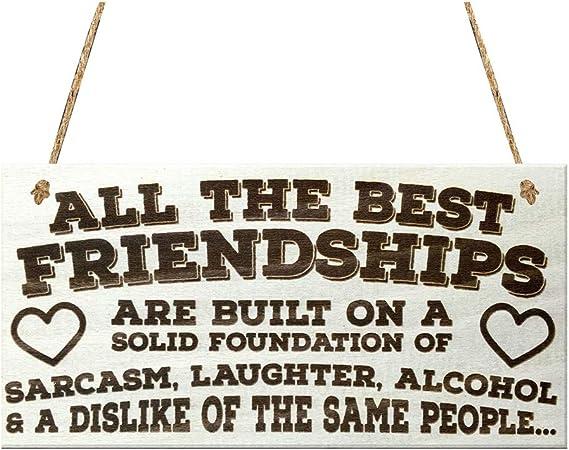 Aland Friendship English Sentence Wood Board Wall Door Window Home ...