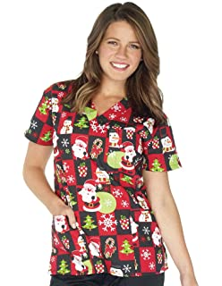b5fbc668430 Amazon.com: Just Love Women's Scrub Tops Holiday Scrubs Nursing ...