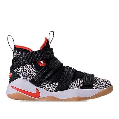 NIKE Boy's Lebron Soldier Xi SFG (GS) Basketball Shoe Black/Team Orange/