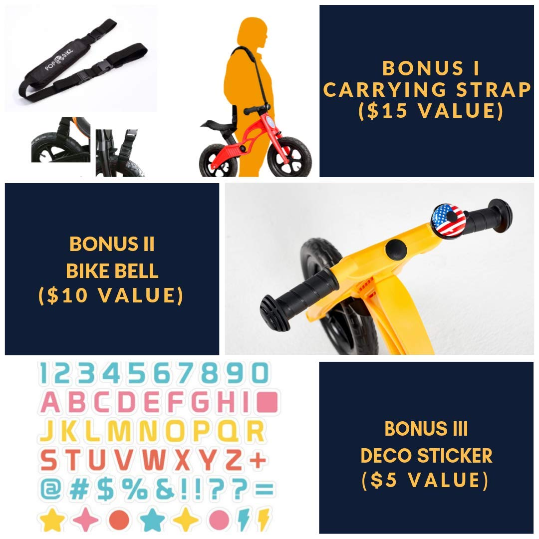 Two in One Balance Bike with Trailer Wagon for Baby and Toddler Use for Kids from Eighteen Month to Five Years Old Great First no Pedal Glider Before Real Bicycle Include Bell Sticker Carry Strap