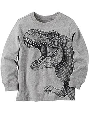Carter's Boy L/S Dinosaur; Grey; 3 Months