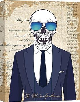 tableau peinture déco murale tête de mort 7
