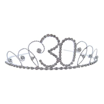 Pick A Gem Hair Accessories Silver Clear Diamante Crystal 21st Birthday Tiara Crown / Happy 21st Birhday 79qLYnE2