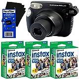 Fujifilm instax 210 Wide-Format Instant Photo Film Camera (Black) + Fujifilm instax Wide Instant Film (60 sheets) + HeroFiber® Ultra Gentle Cleaning Cloth