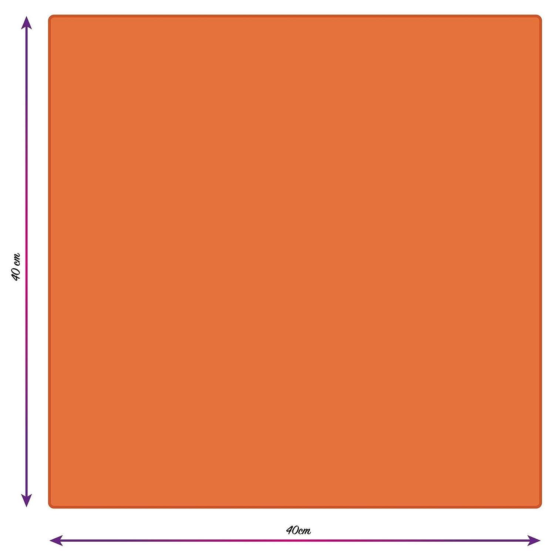 3 Pi/èces Chiffon de Nettoyage en Microfibre Bleu//Vert//Orange Cosey
