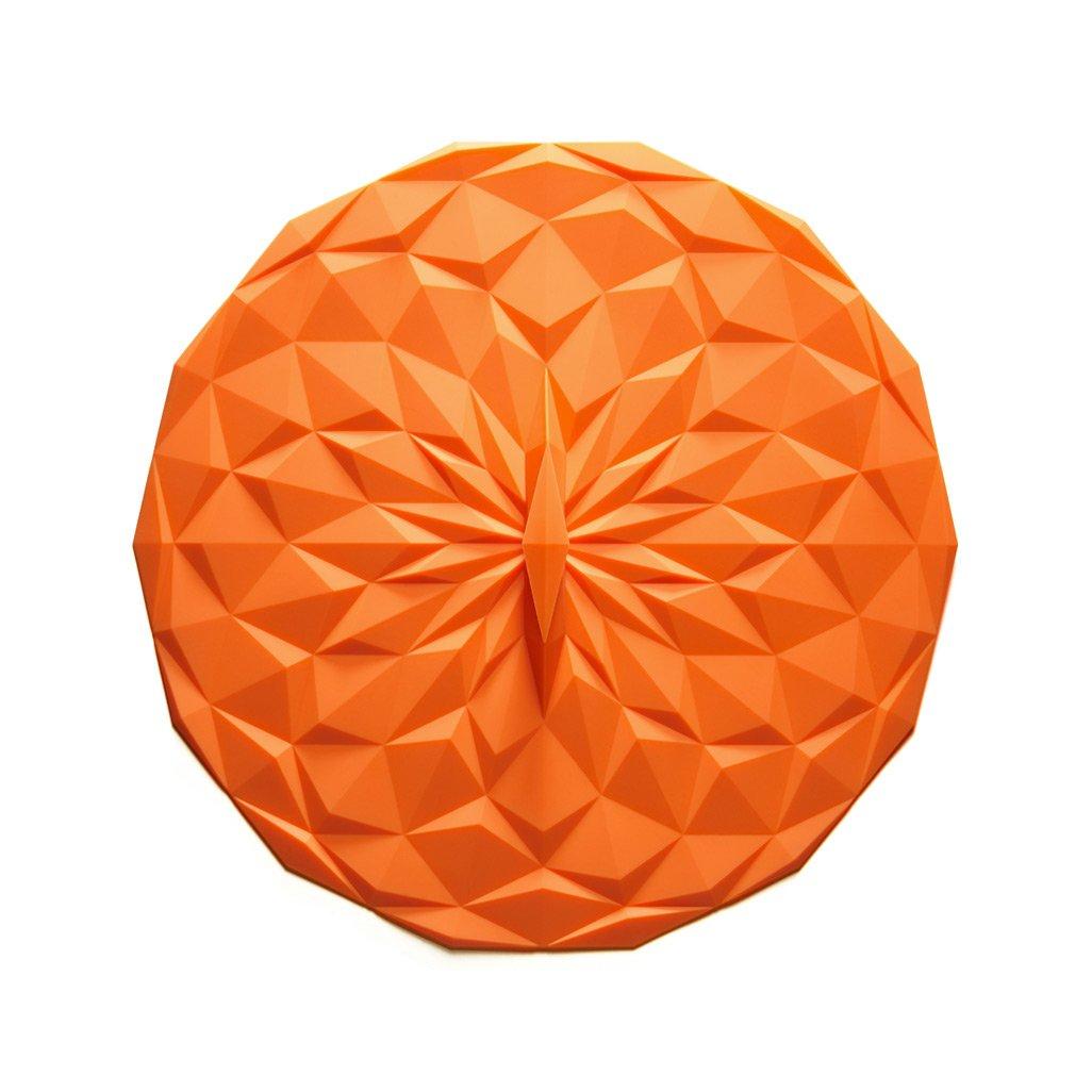 GIR: Get It Right Premium Silicone Round Lid, 10 Inches, Orange