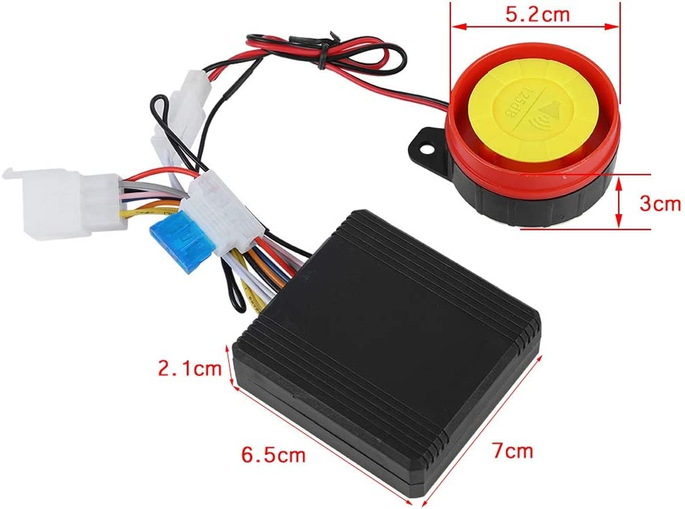 Motorcycle Alarm System High Power 12V Universal Motorcycle Anti-Theft Security Alarm System Remote Control Engine Start