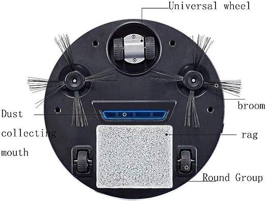 -Blanco ASDASD Robot Aspirador Aspirador autom/ático Robot USB Chargingultra Flexible Bueno para el Pelo de Mascotas Piso Duro y alfombras Bajas peludas Blanco Color: Blanco