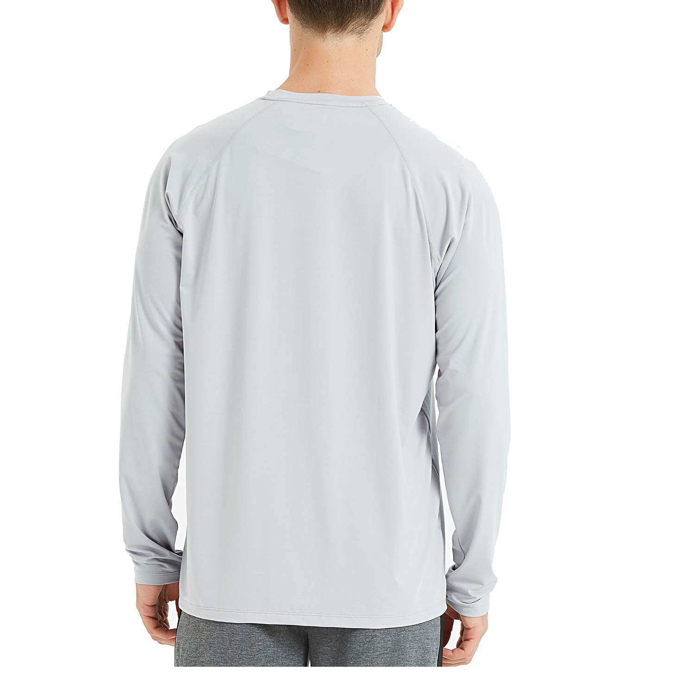 Outdoor UV Schutz UPF 50+ Laufen Jogging 4Ucycling Herren Langarm Laufshirt Lang/ärmlig Winter Fahrrad Trikot Shirt Atmungsaktives Funktionsshirt f/ür Radfharen Wandern