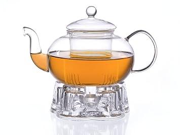 Glas Teekanne glas teekanne melina 1 3l mit filter und glasstövchen aus