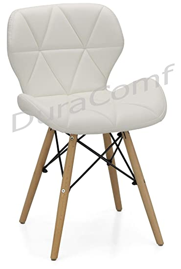 DuraComf Ormond Accent Dining Chair/Side Chair for Living Room/Side Chair for Home/Living Room Chair with Cushion (Off-White)