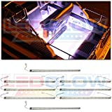 LEDGlow 8pc White LED Boat Deck and Cabin Lighting Kit - 288 LEDs - Waterproof Connectors and Light Tubes