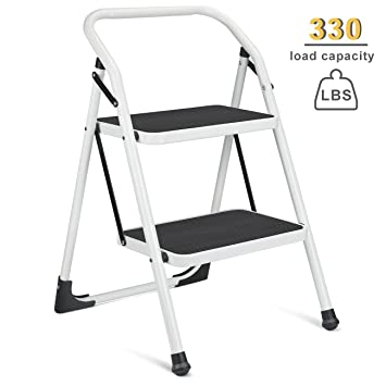 Delxo Step Ladder Portable Step Stool with Handgrip Anti-slip and Wide Pedal Sturdy Steel  sc 1 st  Amazon.com & Amazon.com: Delxo Step Ladder Portable Step Stool with Handgrip ... islam-shia.org